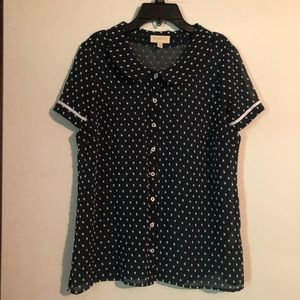 ModCloth sheer dot shirt
